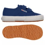 Scarpa Superga velcro jr blue mid