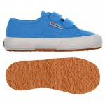 Scarpa Superga velcro jr azure blue