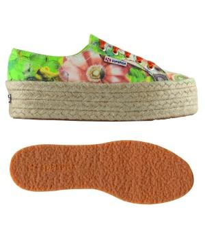 presa all'ingrosso scarpe originali stile popolare scarpa superga con zeppa e corda fantasia - Sportonlineshop