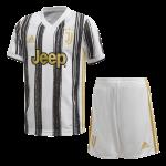 kit baby / mini  juventus adidas gara 20/21 juve home white/black